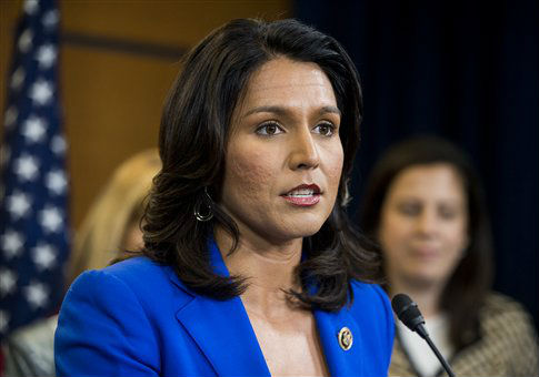 Rep. Tulsi Gabbard, (D., Hawaii) / AP