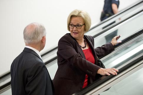 Sen. Jeff Sessions (R., Ala.) with Sen. Claire McCaskill (D., Mo.) / AP
