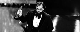 Francis Ford Coppola accepting an Oscar for The Godfather Part II / AP