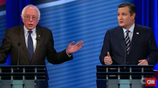 Cruz Sanders debate