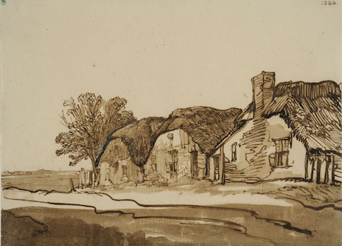 Rembrandt's 'Three Thatched Cottages by a Road'