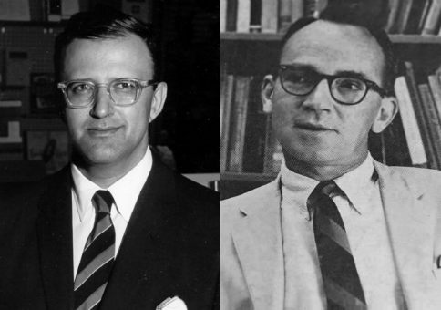 Harry Jaffa, left, and Walter Berns, right