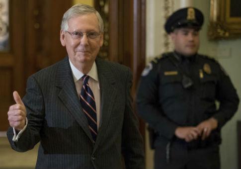 Senate Majority Leader Mitch McConnell (R., Ky.) / AP