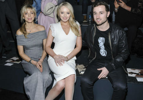 Marla Maples, left to right, Tiffany Trump, and Ross Mechanic / AP