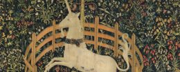'The Unicorn in Captivity' tapestry