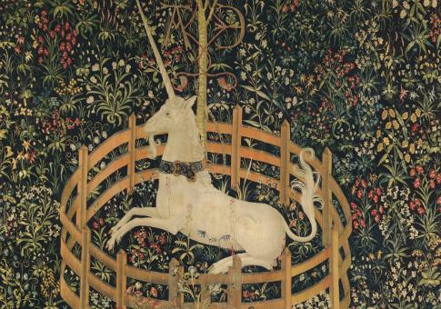 'The Unicorn in Captivity' tapestry
