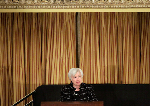 Federal Reserve Chair Janet Yellen Speaks At The Executives Club Of Chicago