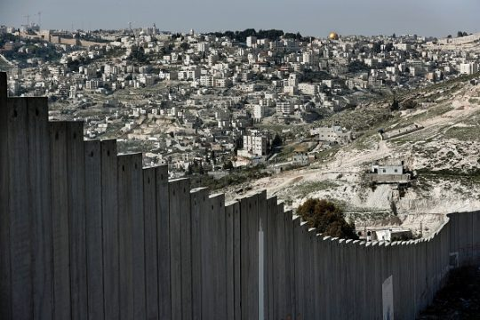 The Old City of Jerusalem with Islam's holy site the Dome of the Rock mosque is seen from the West Bank town of Abu Dis