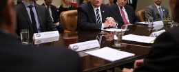 President Trump Meets With Cyber Security Experts At White House