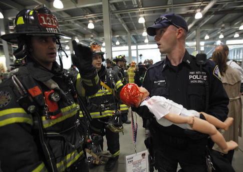 Emergency responder drill