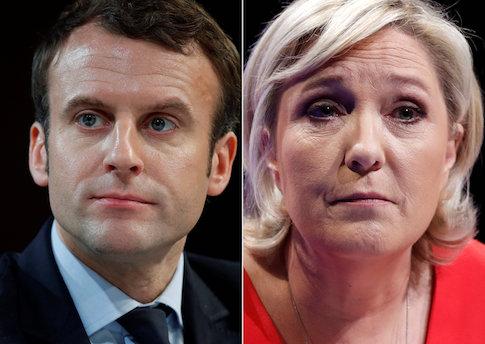 Emmanuel Macron and Marine Le Pen / Reuters