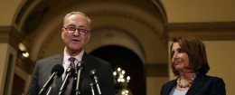 Senate Minority Leader Chuck Schumer and House Minority Leader Nancy Pelosi