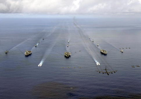 U.S. Navy Trains At Sea
