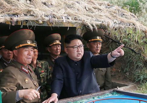 Kim Jong-Un inspects the defense detachment on Jangjae Islet and the Hero Defence Detachment on Mu Islet