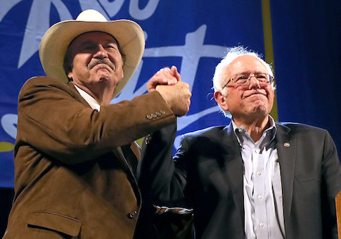 Rob Quist and Sen. Bernie Sanders