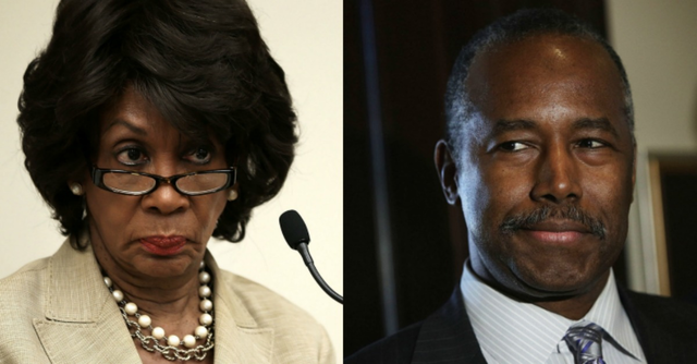 Image result for maxine waters ben carson