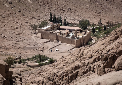 A general view of the Monastery of St. Catherine in Egypt's south Sinai, where a policeman was killed and three others wounded on April 18, 2017 when gunmen opened fire, in an attack claimed by Islamic State jihadists / Getty Images