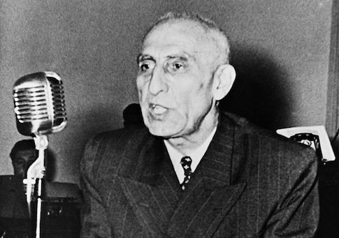 Picture released in the early 50s of Iranian Prime minister Mohammed Mossadegh