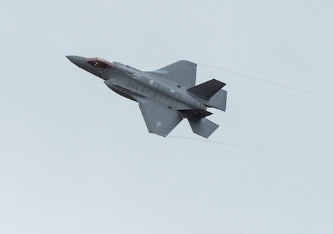A US F-35A Lightning II aircraft at Amari Air Base, Estonia