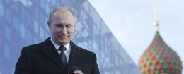 Russian President Vladimir Putin speaks at Crimea annexation event