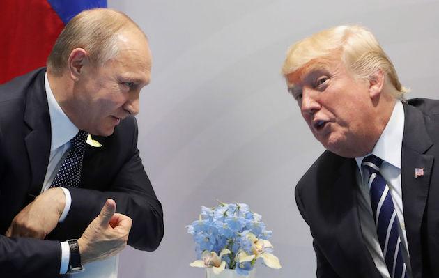 US President Donald Trump and Russia's President Vladimir Putin