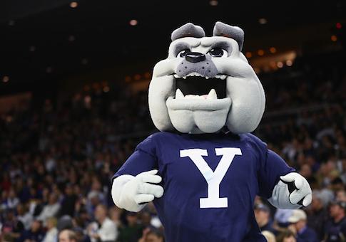The Yale Bulldogs mascot
