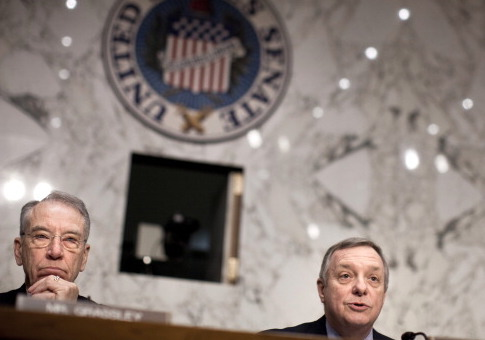 Sen. Chuck Grassley (R-IA) (L) and Sen. Richard Durbin (D-IL) / Getty Images