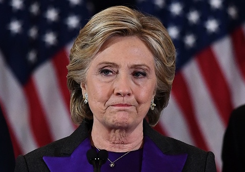 Hillary Clinton makes a concession speech after being defeated by Republican president-elect Donald Trump / Getty Images