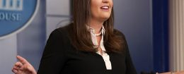 White House Press Secretary Sarah Huckabee Sanders holds a news conference in the Brady Press Briefing Room at the White House August 24, 2017 in Washington, DC. / Getty Images
