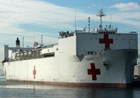 Hospital ship usns comfort heading to puerto rico stopboris Images