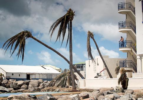 Devastation of Hurricane Irma on the island of Saint Martin