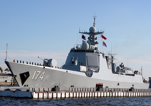 Chinese Type 052D missile destroyer Hefei
