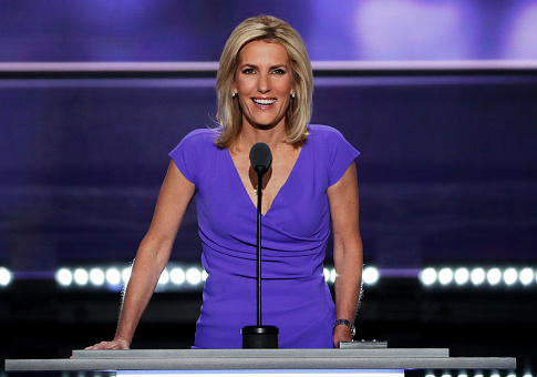 Laura Ingraham delivers a speech on the third day of the Republican National Convention on July 20, 2016 at the Quicken Loans Arena in Cleveland, Ohio. Republican presidential candidate Donald Trump received the number of votes needed to secure the party's nomination. An estimated 50,000 people are expected in Cleveland, including hundreds of protesters and members of the media. The four-day Republican National Convention kicked off on July 18. / Getty Images