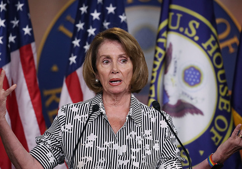 House Minority Leader Nancy Pelosi (D-CA) speaks about House matters during her weekly news conference on Capitol Hill, July 27, 2017 in Washington, DC. / Getty Images