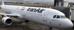 An Airbus A321 bearing the logo of Iran Air