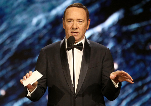 Kevin Spacey onstage to present Britannia Award for Excellence in Television / Getty Images