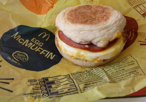 McDonalds calorie rule