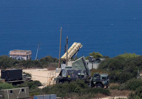 A Patriot anti-missile battery is deployed in the northern city of Haifa, Israel