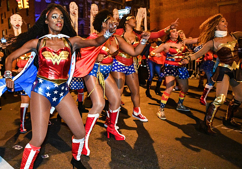 The 44th Annual Village Halloween Parade goes on as planned hours after a terrorist attack in NYC. (Photo by Dia Dipasupil/ Getty Images)