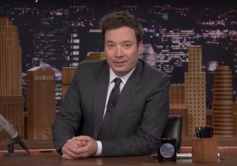 Jimmy Fallon Forgets to Log off Before Praising Himself for Anti-Trump Tweet