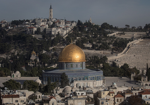 The Al-Aqsa Mosque is seen amongst buildings in the Old City in Jerusalem, Israel