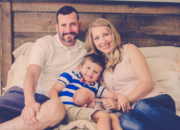 J.J. Hanson with sons James and Lucas and wife Kris Photo Credit: Dayelle Stampfli Emma West Photography