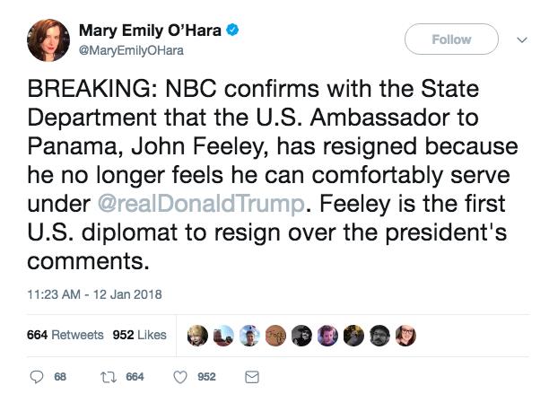 US Ambassador to Panama Resigns, Citing Trump Policies