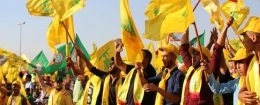 Supporters of the Lebanese Shiite movement Hezbollah attend a rally