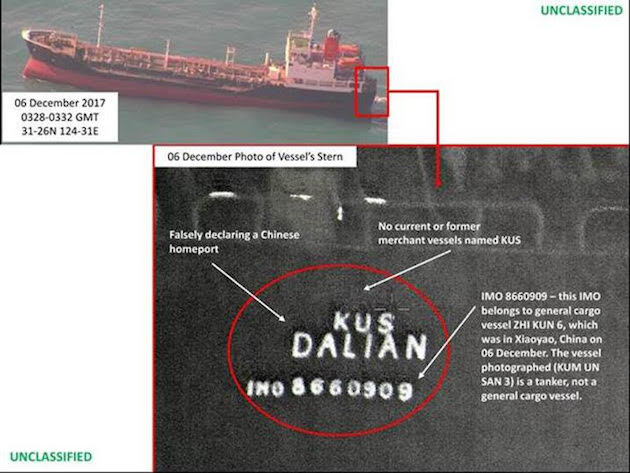 ship China North Korea