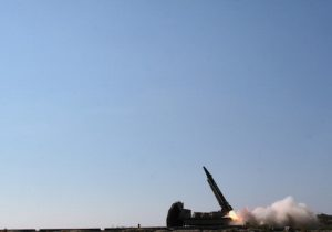 "Iran launches a ""Persian Gulf"" ballistic missile"