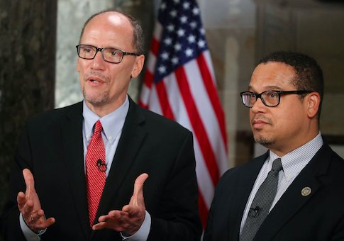 photo image Dems Divided as Sanders and Perez Push Plan to Weaken DNC Superdelegates