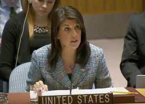 photo image Haley Lambasts U.N. Opposition to Amendment Condemning Hamas