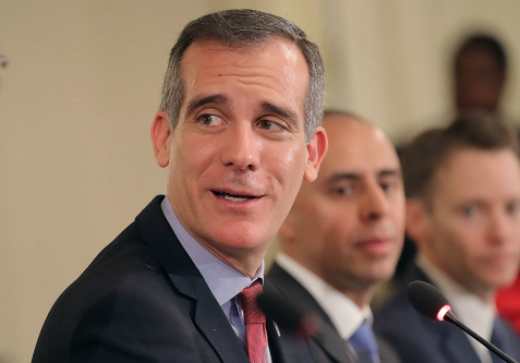 photo image Los Angeles Mayor Garcetti Raises $100K for South Carolina Democratic Party