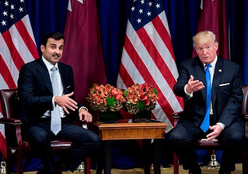 Qatar's Emir Tamim bin Hamad al-Thani and President Donald Trump